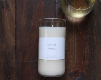 Wine candle // Wine bottle candle // Sweet Wine // Soy candle // All natural candle