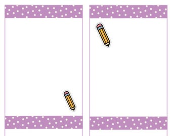 Doodle Pencil Stickers, Mini pencil Planner Stickers -027