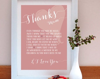 Mother's Day Personalised Print Gift for Mum Birthday Gift for Mum Mother's Day Gift Personalised Gift Print Gift from Children Mothers Day
