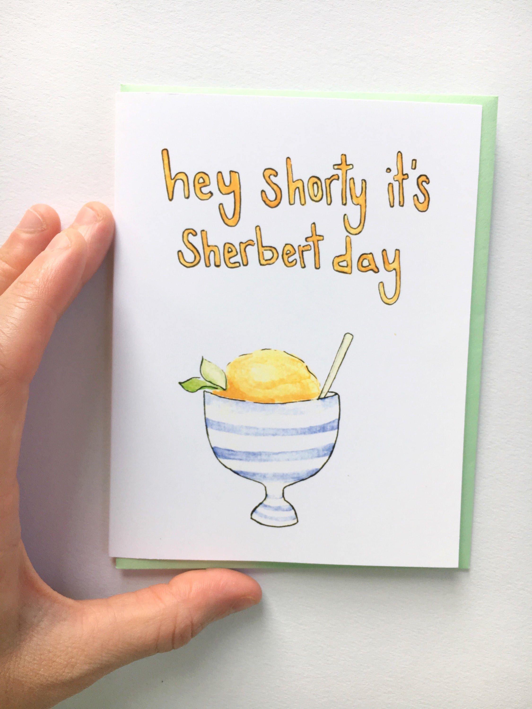 Sherbert Day Birthday Pun Card Food Pun Card Birthday Card