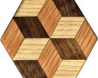 Tiny Tumbling Block Pattern Weights
