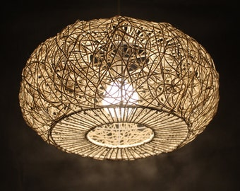 Superieur Hand Woven From Rattan And Paper Rope Pendant Lights Decor Lighting Home  Lighting Bar Lighting Lamp Fixtures Diameter 45 Cm, Height 20 Cm,