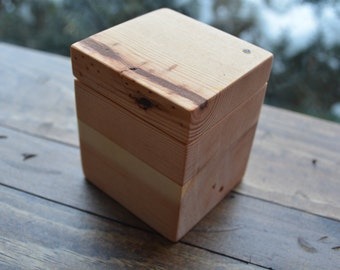 Custom Reclaimed Wood Ring Box - Jewelry Box - The Lazy Dog Woodshop