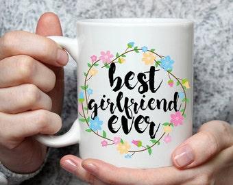 Best Girlfriend Ever Mug - Cute Coffee Mug Perfect Gift For Girlfriend From Boyfriend