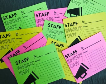 Staff Shout Out Digital Printable