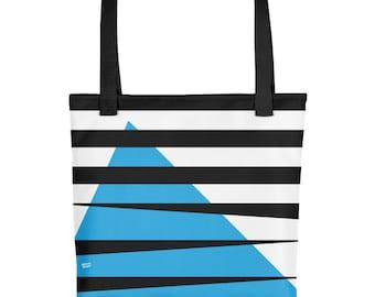 Minimal Tote Bag, Design Tote Bag, Blue, Stripes Bag, STRIPES BLUE, Minimal Design, Fashion Accessories, Stylish Shopper, Gift for Women