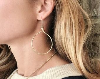 Drop Hoop Earrings, Bailey Earrings