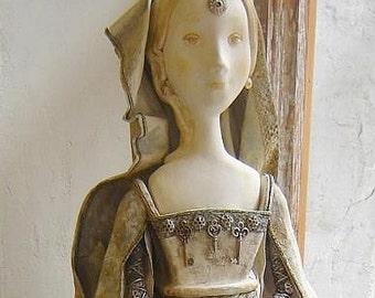 "Art Doll ""Ragusa"" OOAK. Collection Doll. Sculpture. Mediterranean architecture."
