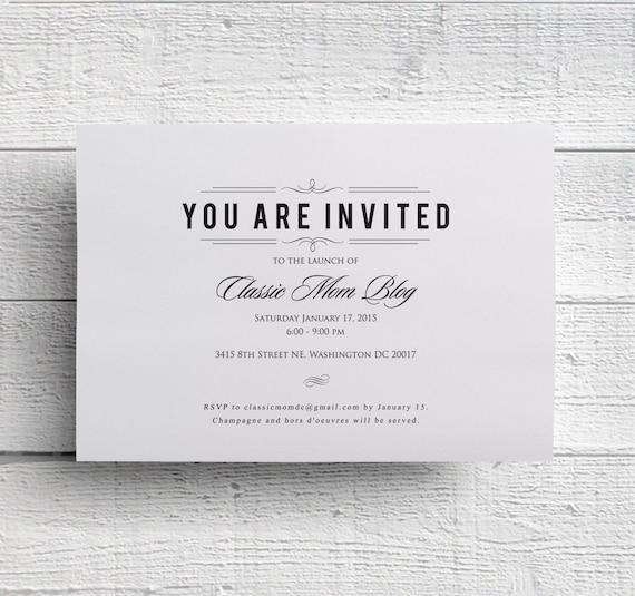 rehearsal dinner invitations formal invites charity event
