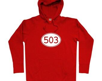 Area Code 503 Portland Hoodie - Men S M L XL 2x 3x - Gift for Men, Her, Oregon Hoody, Portlander Hoody, PDX Hoody, City of Roses Hoody