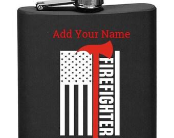 American Heroes - 1st Responder Flag & Ax Flask