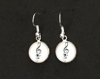 Music Earrings Treble Clef Earrings