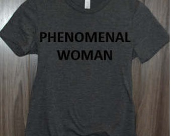 ON SALE** Phenomenal Women's Relaxed Fit Crew Neck Maya Angelou T-Shirt by InfiniteWares