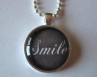 Smile Glass Tile Pendant