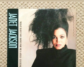 Janet jackson what have you done for me lately vinyl lp