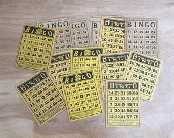Lot of 13 Vintage Bingo Cards