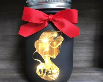 Snow White Mason Jar