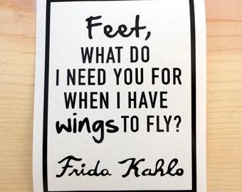 Frida Kahlo Quote Vinyl Decal - Vinyl Stickers