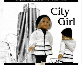 City Girl Coat Pattern for 18 inch Dolls