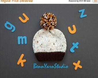 30 % FINAL SALE Knit Baby Hat_Baby Pom Pom Hat_Newborn Baby Boy Beanie_Knit Baby Hat_Pom Pom Newborn Baby Hat_Newborn Baby Hospital Hat