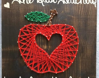 Teacher's Apple - Nail and String Art