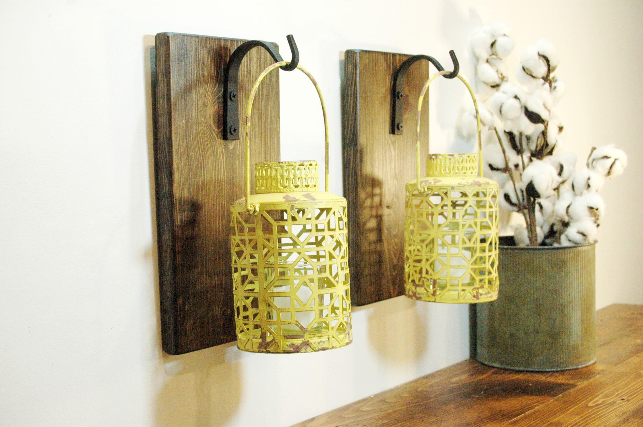 Metal Lantern Wall Decor Home Decor Yellow decor Modern