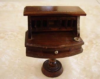 Vintage DOLLHOUSE Wood DESK