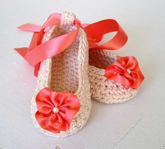 Crochet Pattern Baby Shoes Ballerina Slippers Easy Pattern For Baby