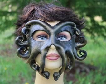 leather kraken mask