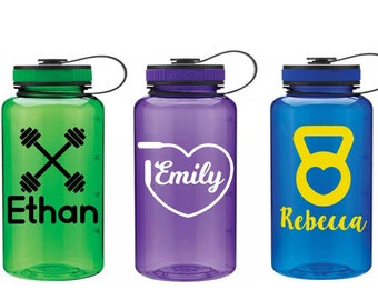 Personalized Fitness Tumbler, Personal Trainer Gift, Gift for Weight Lifter, Barbell Tumbler, Gym Lover Gift, Fitness Bottle, Fitness Gifts