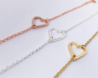 2 x silver heart arm chain: Friendship Bracelet