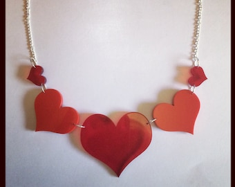 Graduating Hearts Necklace