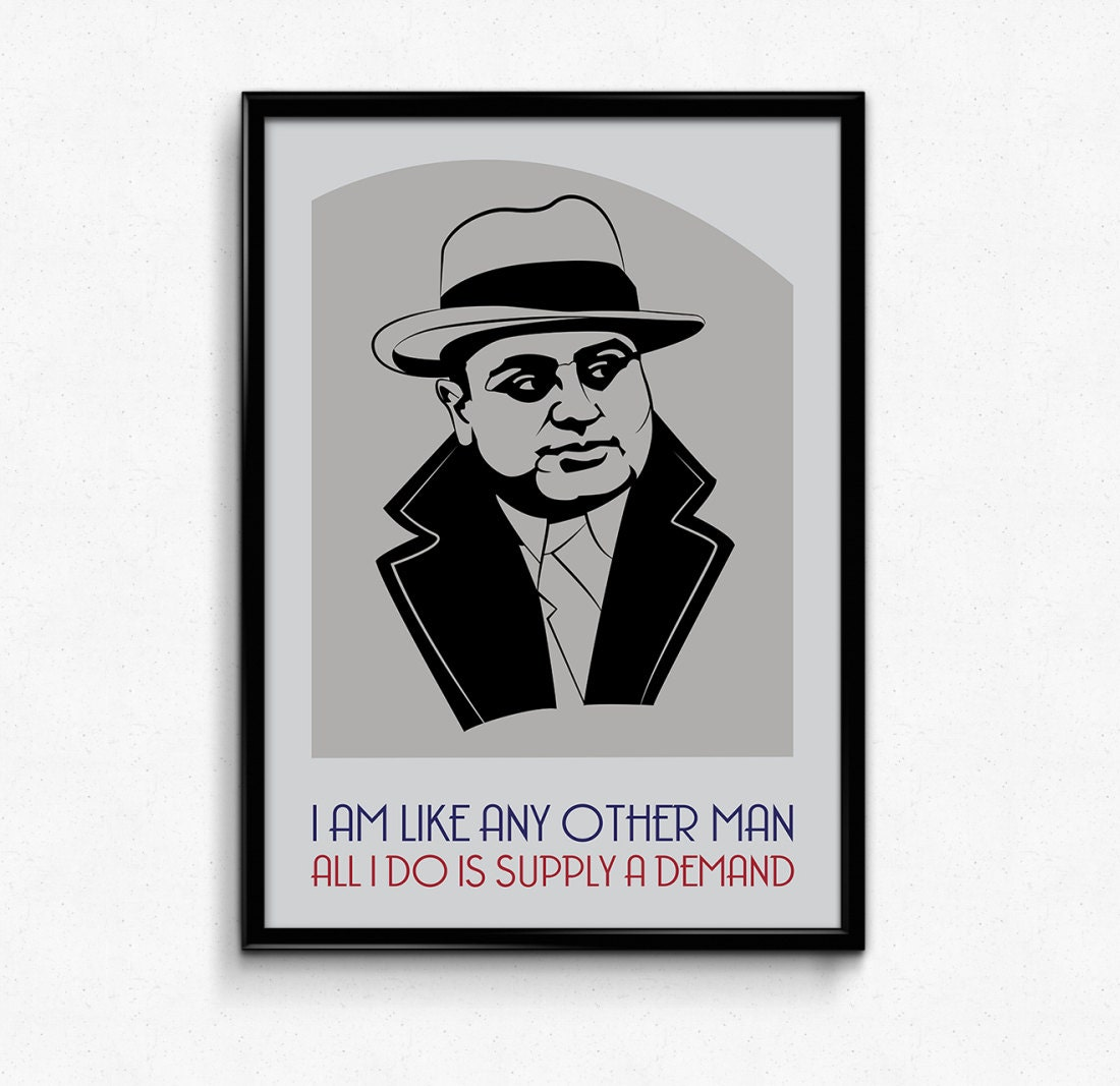 Al Capone Wanted Poster Fine wide ruled paper printable free ...