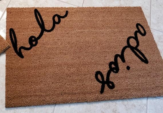 Spanish Doormat / Hola Adios Doormat / Spanish Welcome Mat / Spanish Gifts / Spanish Decor / Custom Doormats / Housewarming Gift Ideas
