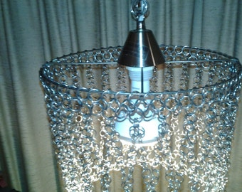 Chain Mail Swag Chandelier Lamp