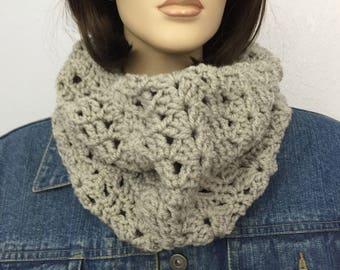 Women Crochet Infinity Scarf Women Knit Scarf Women Chunky Cowl Women Winter Accessories Christmas Gift under 50
