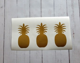 Pineapple Balloon Decals Set of 12