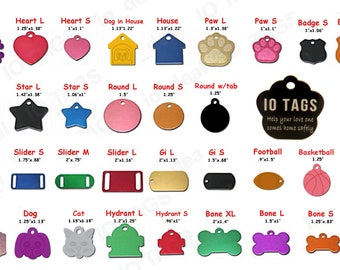 Made IN USA Laser Etched Aluminum Pet ID Tag for Dog & Cat Tag Free Engraved and Personalized
