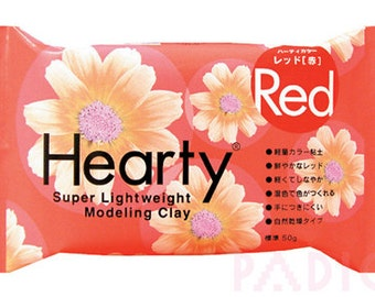 Padico Red Hearty clay super lightweight from Japan (50g) - Figurines / Doll / Flower / Miniature Food 303154