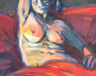 Figure painting – Marianna Sleeps