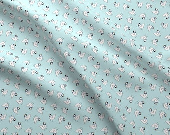 French Hen Fabric - The Happy French Hen Blue By Elliottdesignfactory - Hen Chicken Farm Animal Cotton Fabric By The Yard With Spoonflower