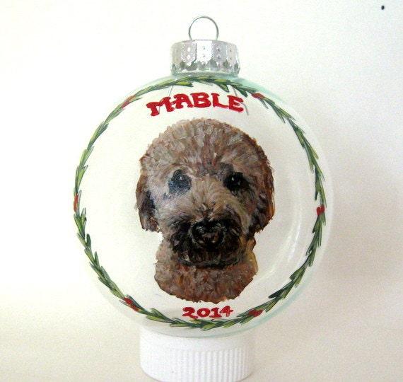 goldendoodle christmas ornament custom pet portrait dog - Goldendoodle Christmas Ornament