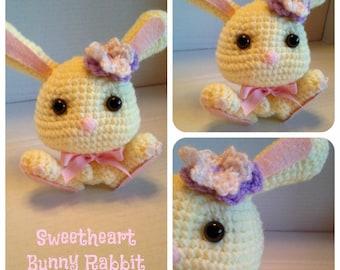 Sweetheart Bunny Rabbit Crochet Pattern