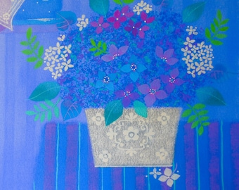 "Painting ""Blue Romantic"" - Original Acrylic on Canvas"