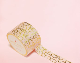 PINK MARBLE WASHI Tape | Masking Tape | Korean Washi Tape | Scrapbooking | Deco Tape | Scrapbooking | Japanese Tape | Paper Tape | Gold Foil