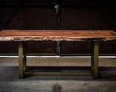 Burled Redwood Table on G...