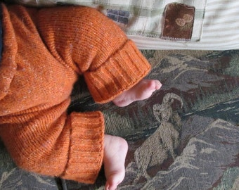 Instant PDF download simple upcycled recycled sweater baby pants longies soaker Sewing tutorial