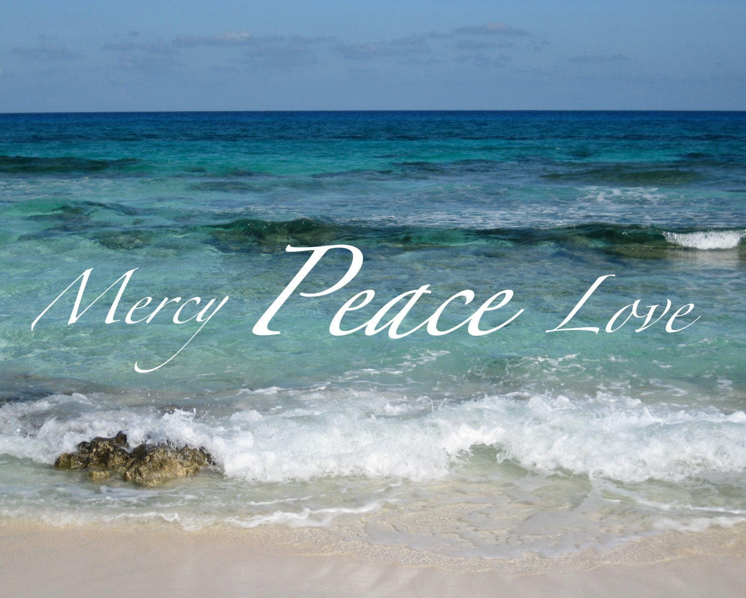 Bible Quotes About Peace Print Of Mercy Peace Love Ocean Bible Verse