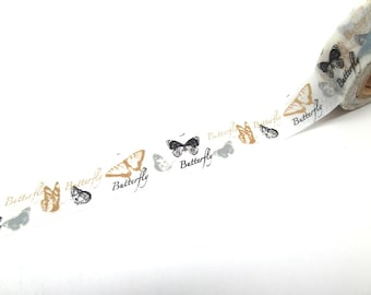 Butterfly Washi Tape - Black and White Butterfly