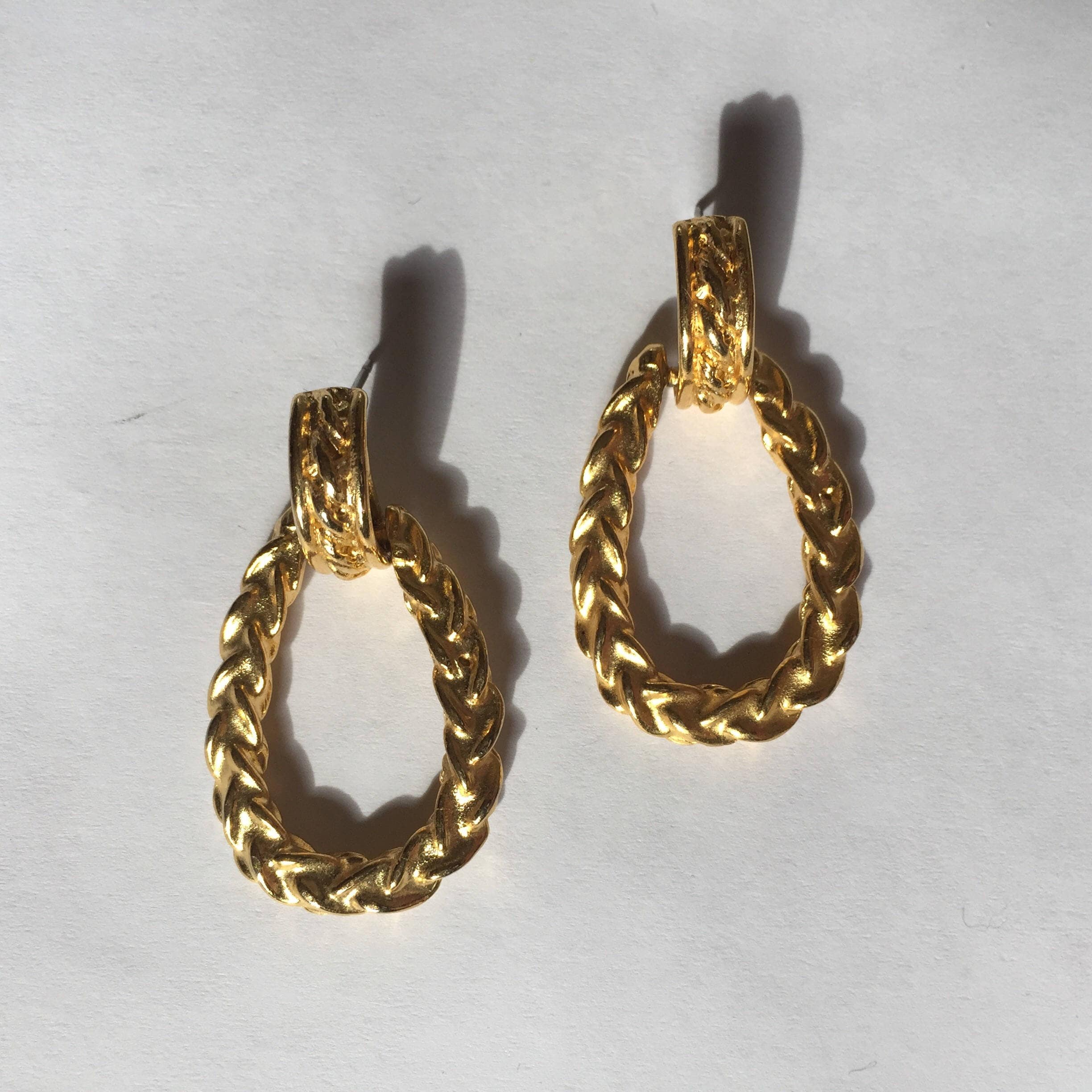vintage clips faux earrings chanel tone product gold pearl